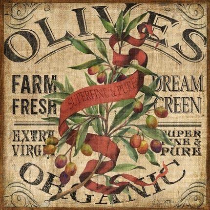 Farm Fresh Organic Olives Crate Label