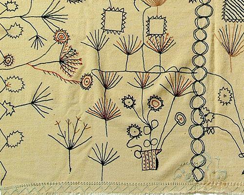 Embroidered blanket (detail)