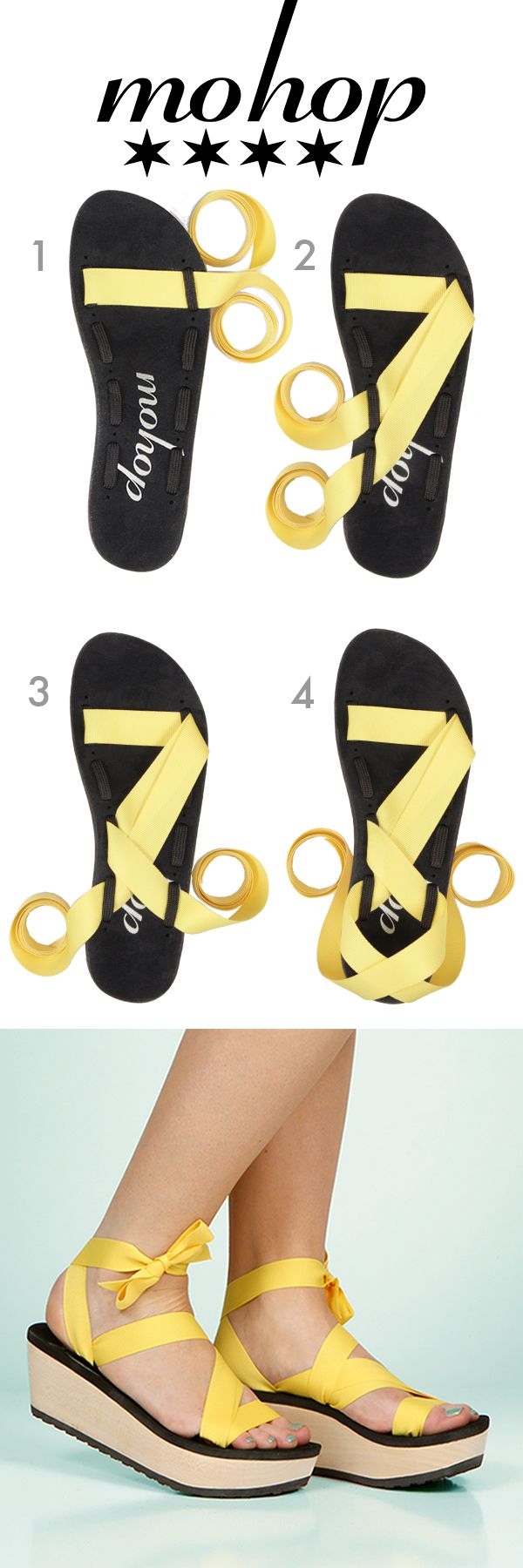 New Mokobo Styling Card. Infinitely Interchangeable Ribbon Sandals!