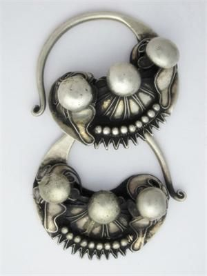 Hmong tribe earrings, South East Asia.