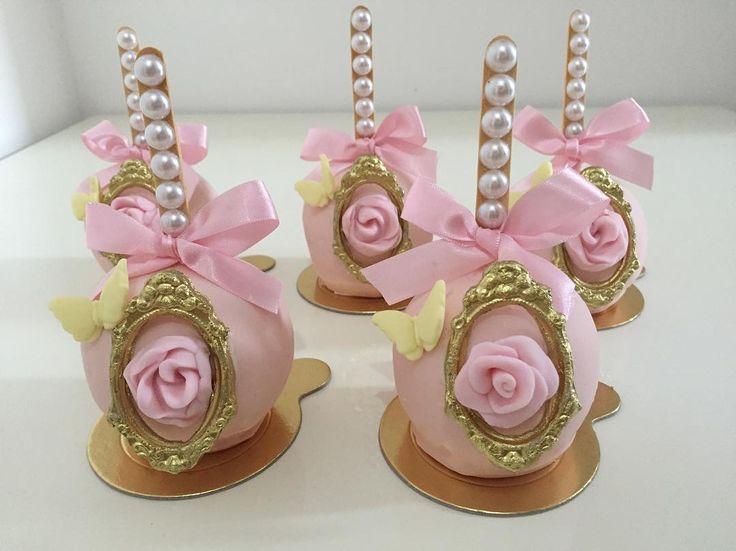 Maçãs lindas para o jardim Encantado de uma linda princesinha #benditosbrigadeiros #doces #docesmodelados ...