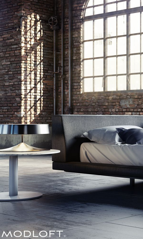 Floating design angled headboard rich woven upholstery