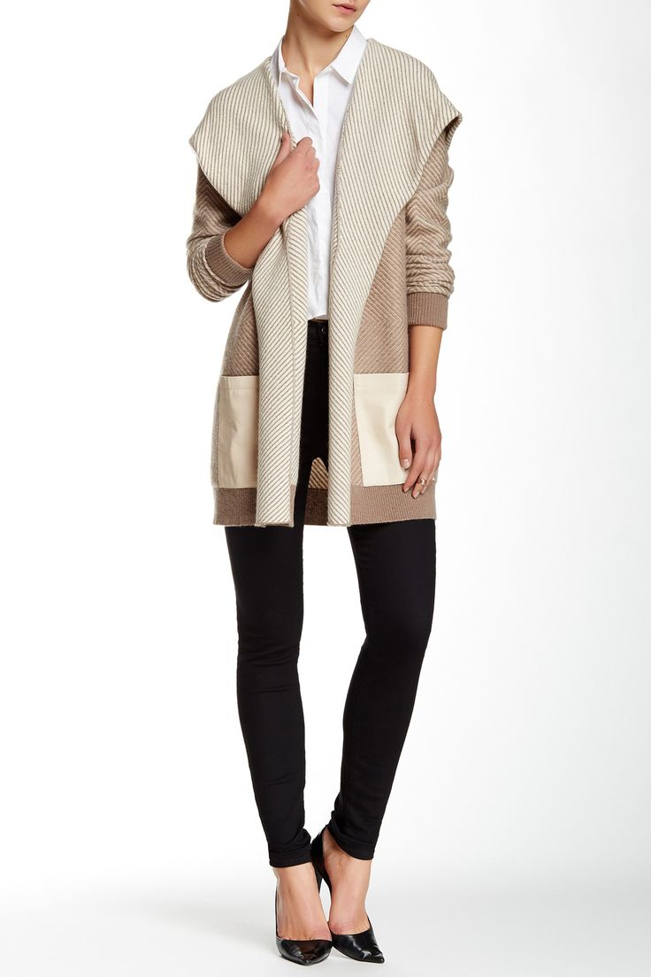 Kristen Leather Pocket Cashmere Hoodie by Quinn Cashmere on @nordstrom_rack
