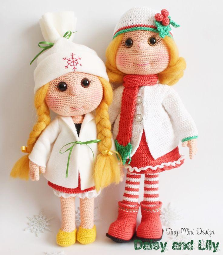 Amigurumi Lily and Daisy Doll http://tinyminidesign.blogspot.com.tr/2015/11/amigurumi-bebek-lily-amigurumi-lily-doll.html