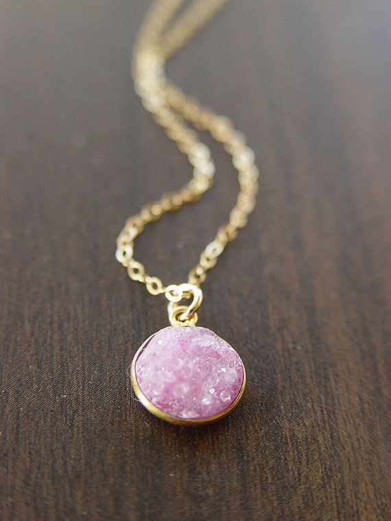 Light Pink Stone Necklace