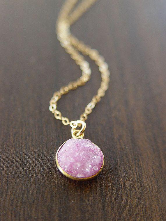 Light Pink Stone Necklace
