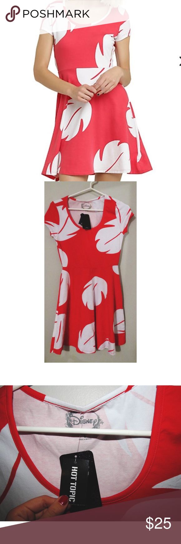 NWT Hot Topic Disney Lilo Dress Lilo's dress from Lilo & Stitch. Was a gift and has never been worn (color of dress is closer to the one in the stock photo) Hot Topic Dresses Midi