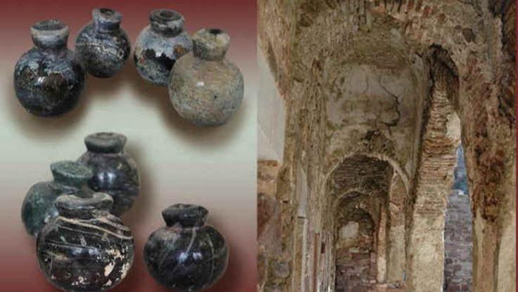 Οι γυάλινες χειροβομβίδες των μεσαιωνικών χρόνων από το Κάστρο της Μυτιλήνης