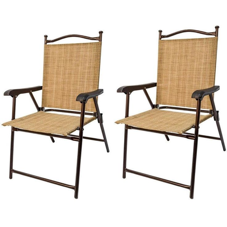 greendale home fashion outdoor sling back folding chairs pair set of 2 patio - Folding Patio Chairs