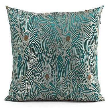 Peacock+Cushion+Cover+(Lake)+–+AUD+$+17.94