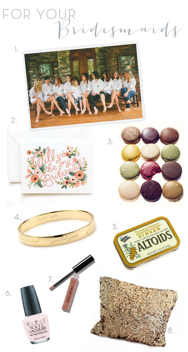 thoughtful bridesmaid gifts <3