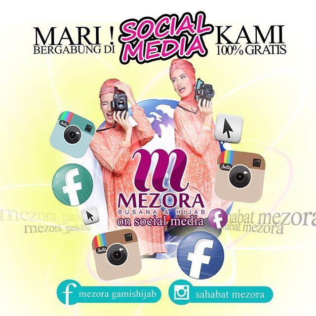 Follow instagram dan like fanpage facebook Mezora untuk mendapatkan kesempatan berbelanja secara gratis produk Mezora total senilai 2,5 juta rupiah hanya dengan cara post OOTD menggunakan produk Mezora. Yuk post OOTD terbaikmu, Sahabat Mezora! #MezoraOOTD