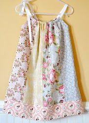 Fat Quarter Pillowcase Dress pattern tutorial. Great stash buster! Cute little girls