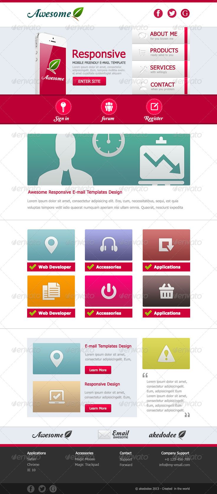 Awesome Email Template Design Vol 1 AD mail,