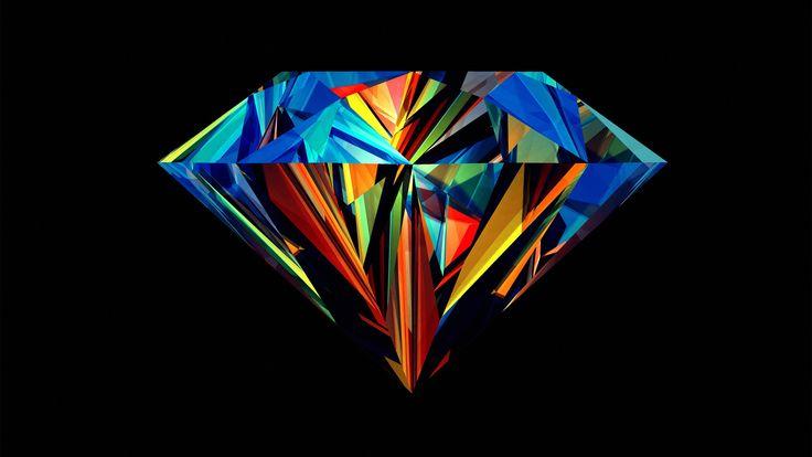 Abstract Colored Diamond HD Wallpaper
