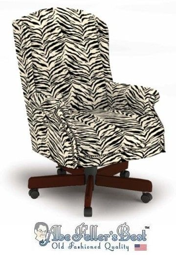 Delightful Zebra Print Chair | Zebra Print Office Chair