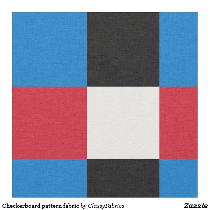 Checkerboard pattern fabric