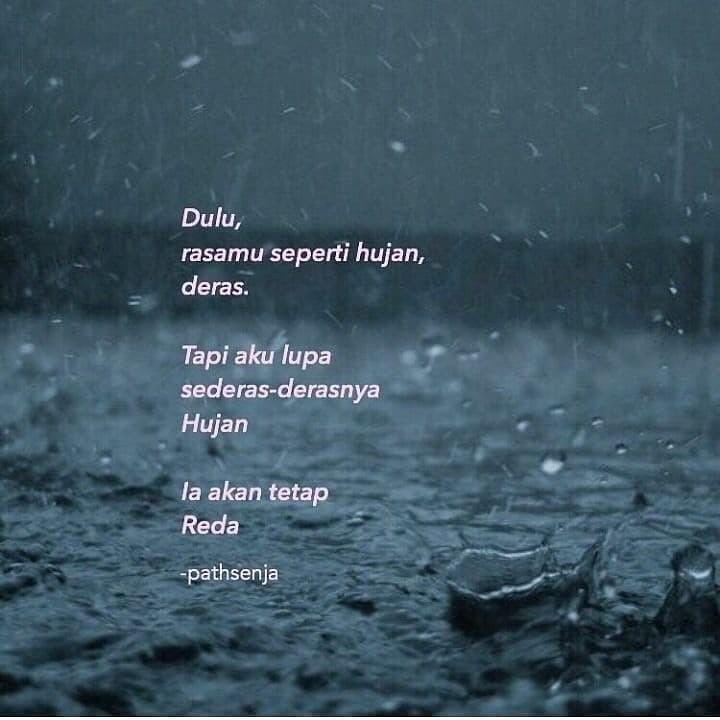 pin oleh shicaca di quotes sajak dan hujan