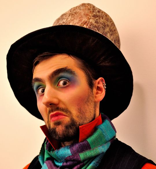 Rainbow makeup: The mad hatter
