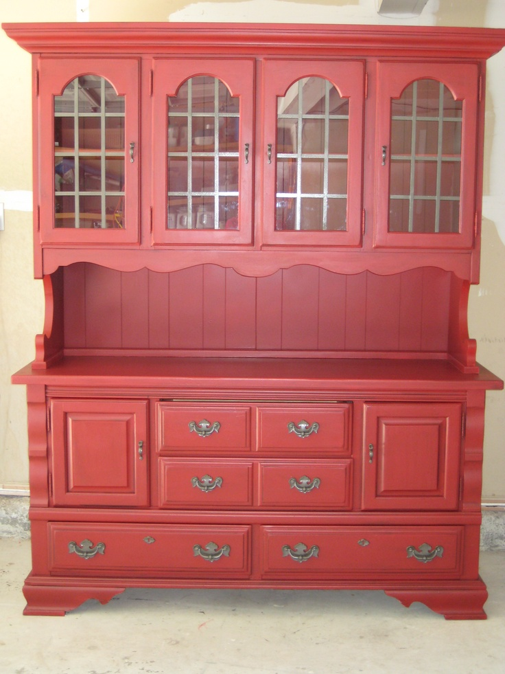The Gould Chronicles Red China Hutch