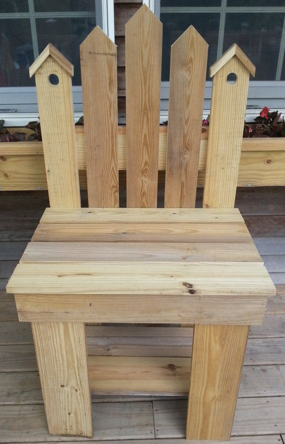 Treated Pine Decorative Birdhouse Bench by DeerCreekWoodworks, $89.99