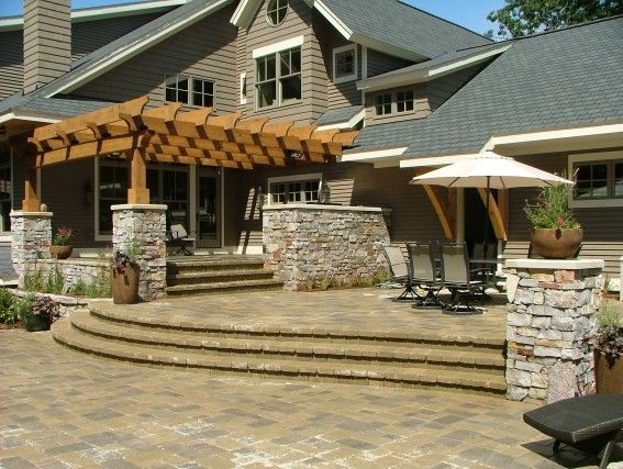 Mcdowell curved steps architectural elements pinterest for Outdoor living concepts