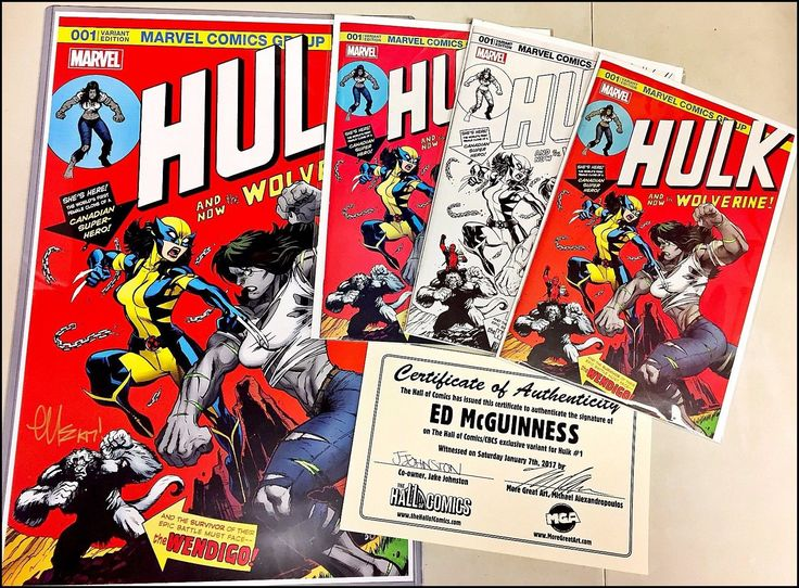 Hulk #1 Hall of Comics/CBCS McGuinness, 3x Exclusive Ultimate Variant Cover Set