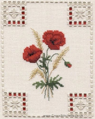hardanger designers | Hardanger Kits - Poppies Hardanger Kit by Sarah May Designs