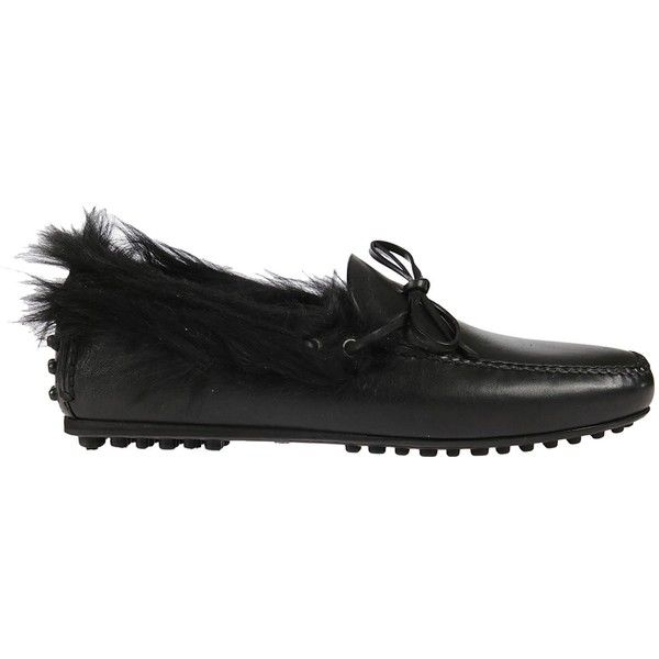 Moccasin Driving Shoes ($175) ❤ liked on Polyvore featuring men's fashion, men's shoes, men's loafers, nero, mens driver shoes, mens rubber sole shoes, mens black driving shoes, mens driving shoes and mens leather driving shoes