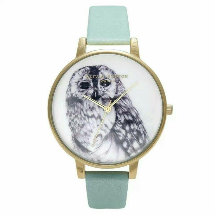 Pastel green owl watch £72 www.kakao.co.uk
