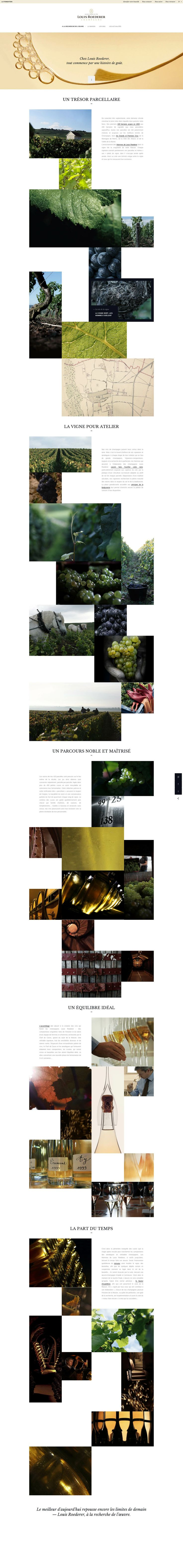 Champagne Louis Roederer  Clean & beautiful web design with nice grid. http://www.louis-roederer.com