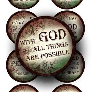 Digital Images Sheet Inspirational Quotes Religious Sayings Christian God Phrases