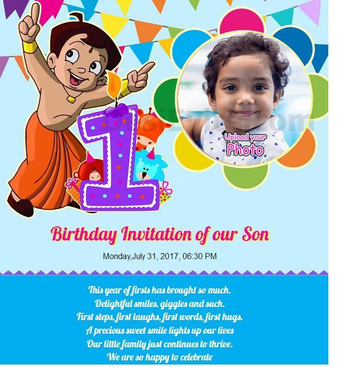 free birthdays invitation card online
