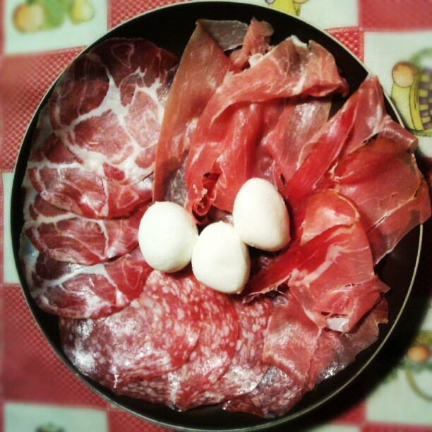 Cold cuts and mozzarelline.. and this is just the appetizer