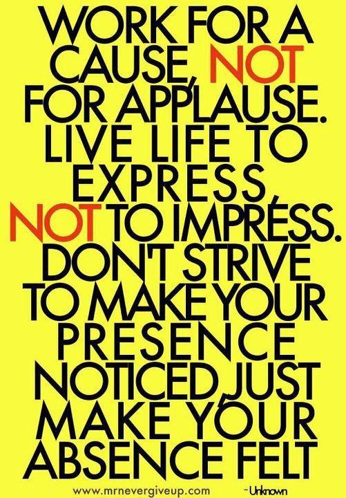 Make your absence felt