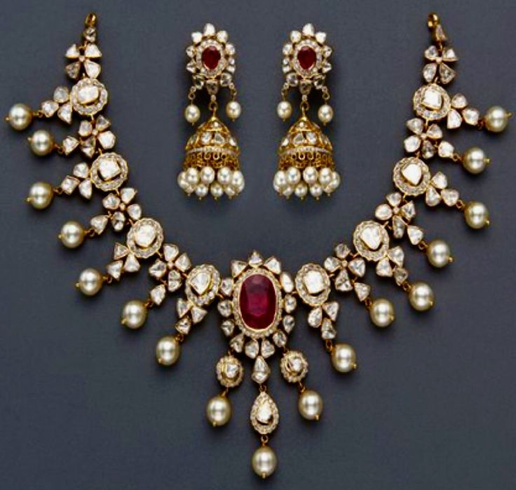 Indian Necklace and Earrings