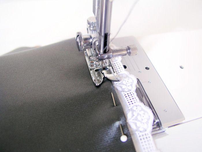 dobladillo, encaje, lace, pulir, bajo, cenefa, puntada invisible, zigzag invisible, máquina de coser, maquina de coser, costura, cinta decorativa, bajo escondido