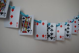 Playing Card decoration for an Alice in Wonderland - Mad Hatter's Tea Party