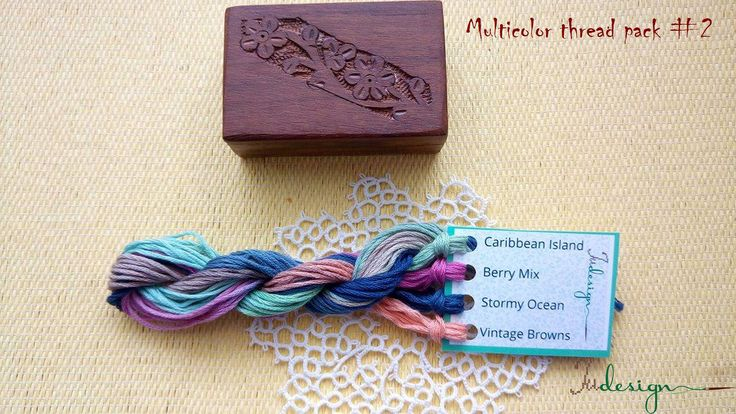 Hand painted matt cotton floss package #2 hand dyed thread for embroidery, cross stitch, punto cruz, point de croix, blackwork by xJudesign on Etsy