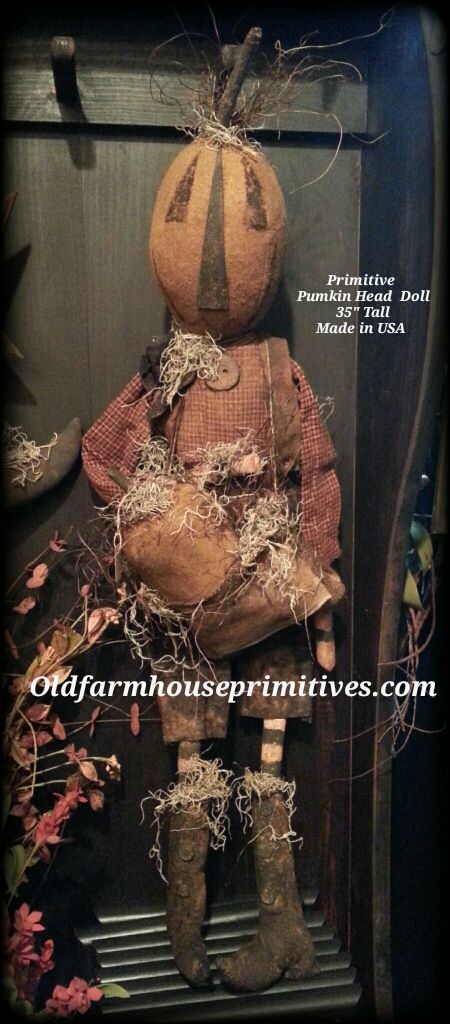 Primitive Pumpkin Head Doll ( Made In USA )