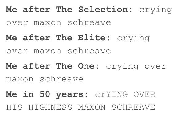 The feels roller coaster of The Selection