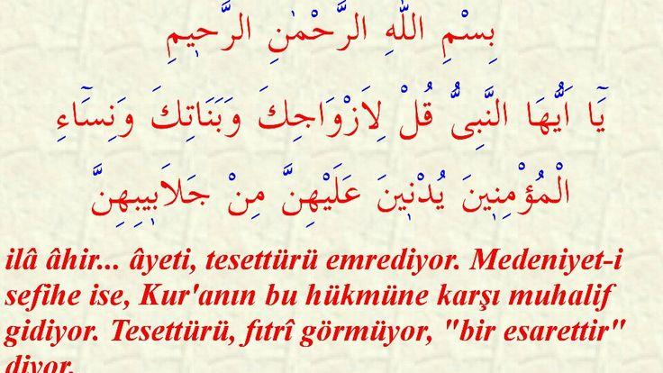 """Elcevab: Kur'an-ı Hakîm'in bu hükmü tam fıtrî olduğuna ve muhalifi gayr-ı fıtrî olduğuna delalet eden çok hikmetlerinden, yalnız """"dört hikmet""""ini beyan ederiz. Lemalar - 195"""