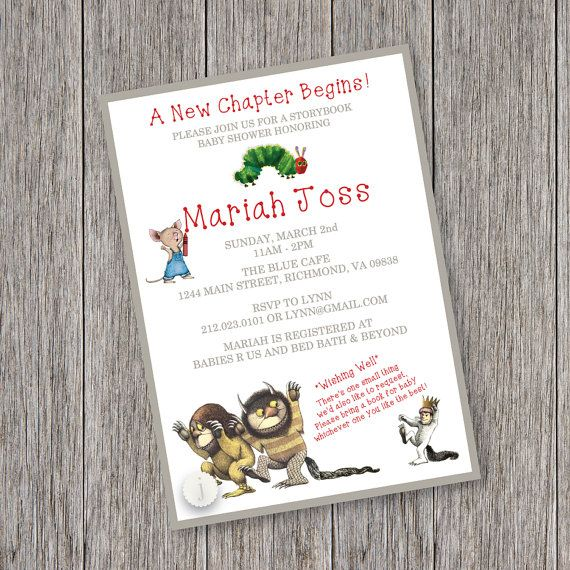 68 best images about baby shower on pinterest | story books, Baby shower invitations