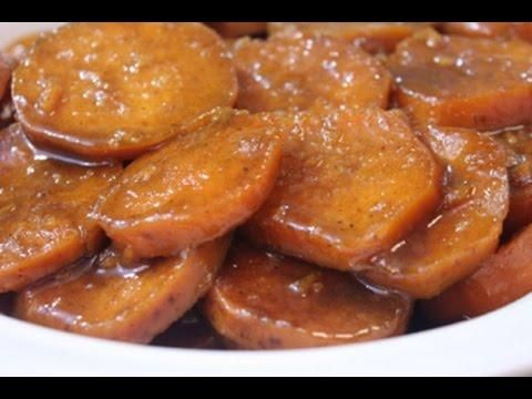 My southern baked candied yams recipe is a easy one. It is more of a southern and soul food version. I use garnet yams, which are red sweet potatoes. The candie