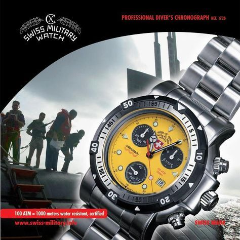 SEAWOLF 1, 1728, by CX SWISS MILITARY WATCH, certified 100 ATM=1000m=3300ft water resistant: https://www.swiss-military.net/product-page/seewolf-1-1728
