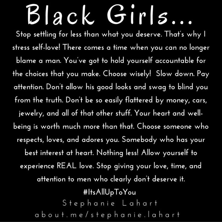 Black Girl Quotes. Empowering and inspiring quotes for black girls and black women. #BlackGirls #BlackWomen #Empowerment #Quotes #Sayings #Empowering #AfricanAmerican
