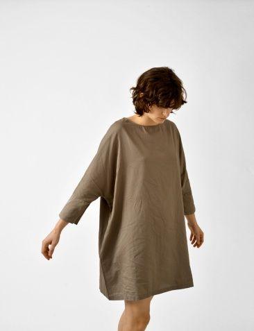 cotton woven painter dress
