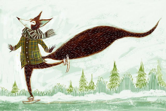 juanbjuan children illustration: Winter fox