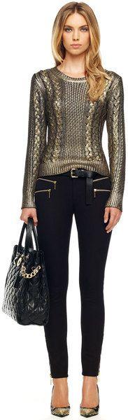MICHEAL BY KORS Rocker Zip-pocket Jeans