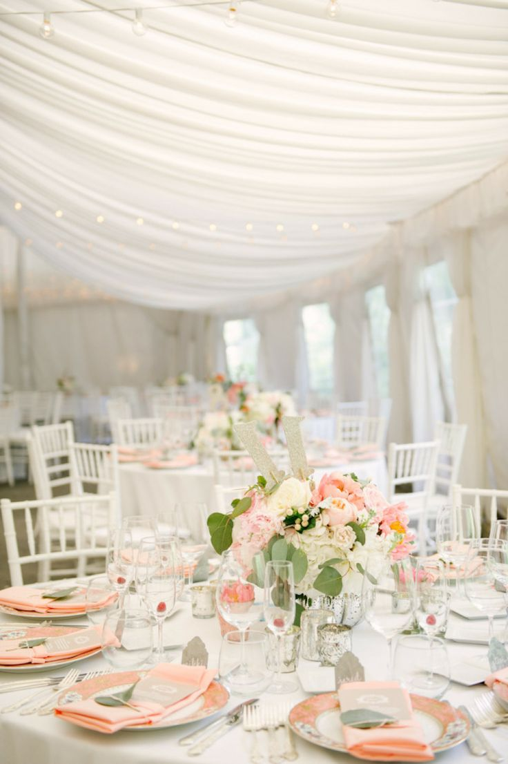 Tented ceremony | L Hewitt Photography Read more - http://www.stylemepretty.com/2013/08/09/baltimore-wedding-from-l-hewitt-photography/